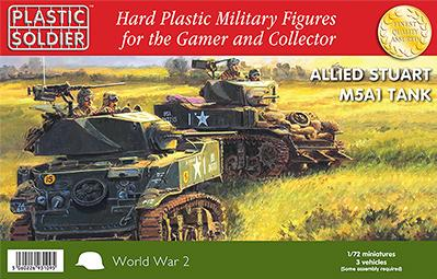 20mm WWII - American: Easy Assembly Stuart M5A1 Tank