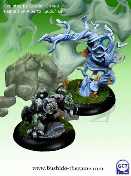 Bushido Miniatures: (Temple Of Ro-Kan) Minor Kami of Earth and Air