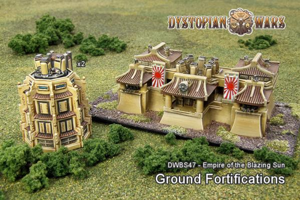 Dystopian Wars: (Empire Of The Blazing Sun) Ground Fortifications