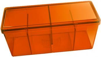 Orange Four Compartment Storage Box