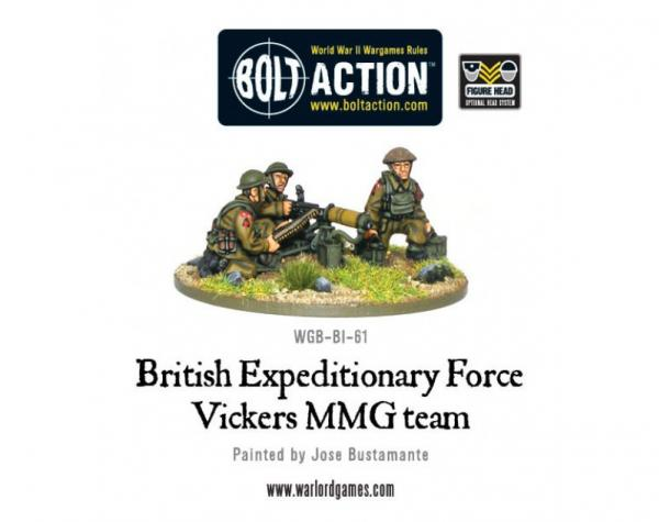 (British) Early War Vickers MMG Team