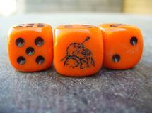 RPG Dice: Ogre Dice (Orange)