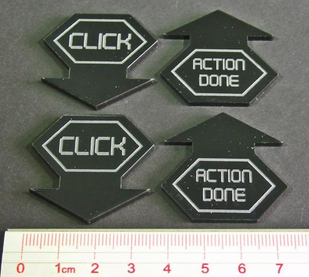 Net Hacker Click Tokens (4) (Black)