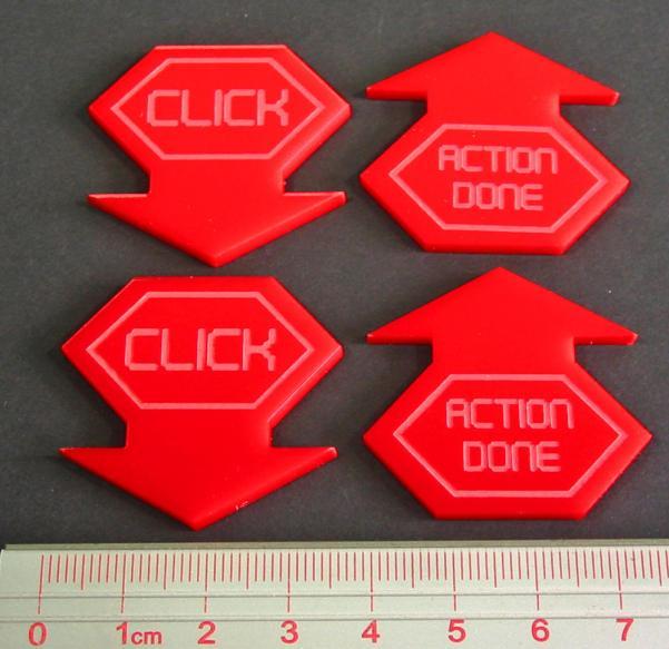 Net Hacker Click Tokens (4) (Red)