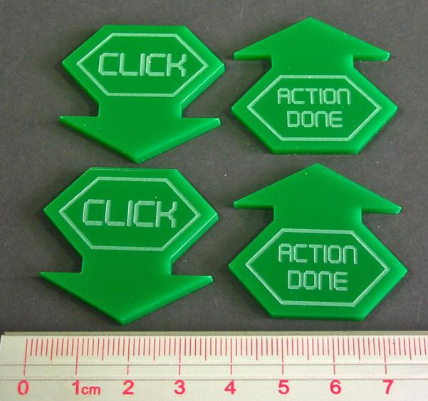Net Hacker Click Tokens (4) (Green)