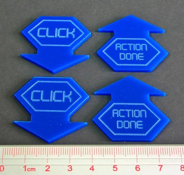 Net Hacker Click Tokens (4) (Blue)