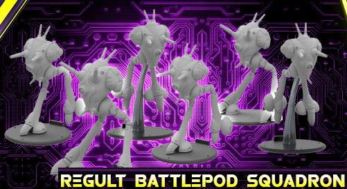 Robotech RPG Tactics:  Zentraedi Armada Regult Battlepod Squadron