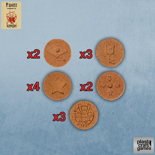 28mm Kensei Terrain: Special Actions Markers (Terracotta)