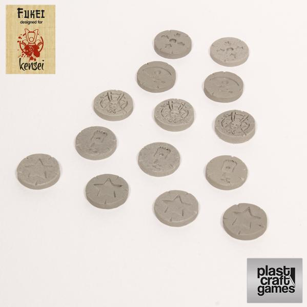 28mm Kensei Terrain: Special Actions Markers (Grey)