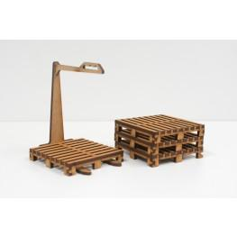 Bandua Accessories: 4 Pallets and Pallet Carrier