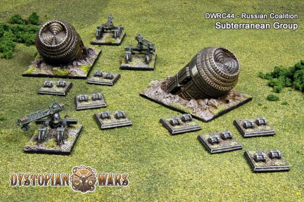 Dystopian Wars: (Russian Coalition) Subterranean Group (6)
