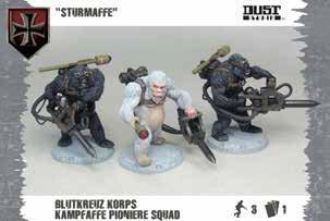Dust Tactics - Axis: Blutkreuz Pioniere Squad ''Sturmaffe''