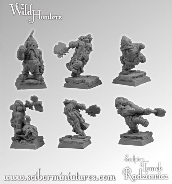 28mm Fantasy Miniatures: Wild Hunters set 2