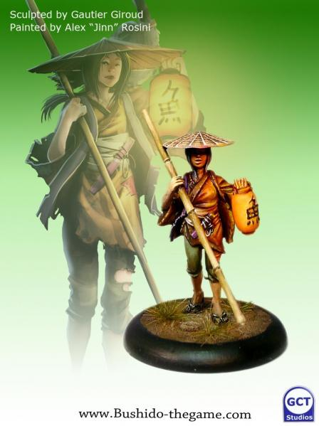 Bushido Miniatures: (Temple Of Ro-Kan) Fisherman Of Rokan