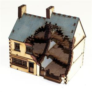 15mm Terrain: Damaged Shop Type 2