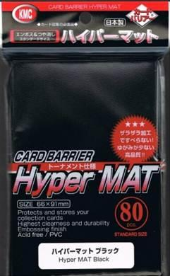 KMC Sleeves: Hyper Matte Black (80)