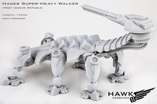 Dropzone Commander: (Post-Human Republic) Hades Super-Heavy Walker