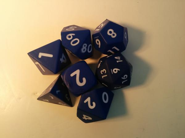 Game Accessories: Squishy Polyhedral 7-Die Set (Blue)