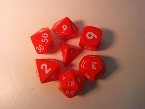 Game Accessories: Squishy Polyhedral 7-Die Set (Orange)