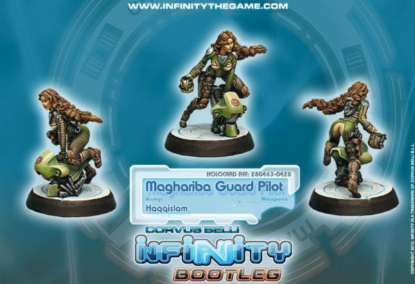 Infinity Bootleg (#428) Haqqislam: Maghariba Guard Pilot
