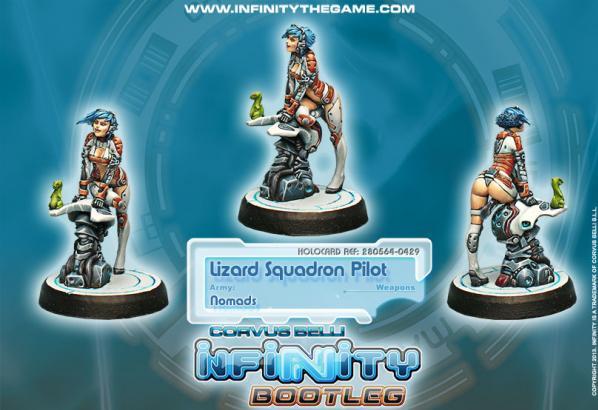 Infinity Bootleg (#429) Nomads: Lizard Pilot