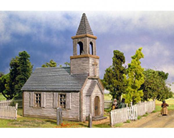 28mm Terrain: Weatherboard American Church 1750 - Modern Day