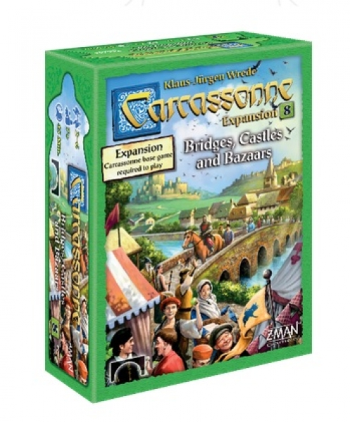 Carcassonne Expansion #8: Bridges, Castles and Bazaars