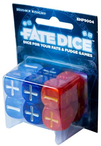 Fate Dice: Dresden Files Winter Knight Dice