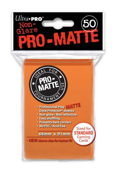 Ultra-Pro: Pro-Matte Orange Deck Protector (50ct)