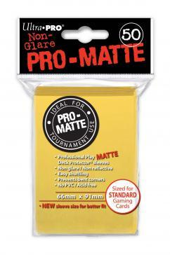 Ultra-Pro: Pro-Matte Yellow Deck Protector (50ct)