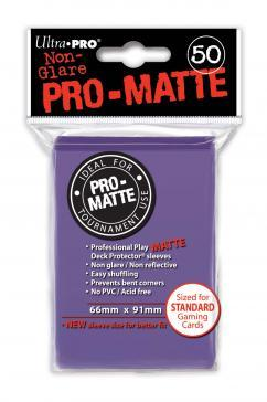Ultra-Pro: Pro-Matte Purple Deck Protector (50ct)