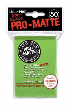 Ultra-Pro: Pro-Matte Lime Green Deck Protector (50ct)