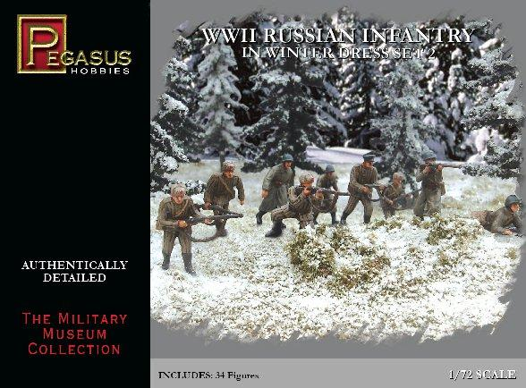 20mm WWII: Russian Infantry in Winter Dress Set 2