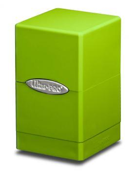 Ultra Pro: Lime Green Satin Tower Deck Box