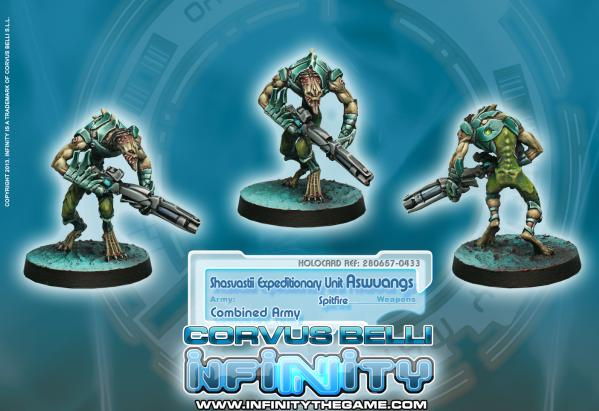 Infinity (#433) Combined Army: Shasvastii Expeditionary Unit Aswuang (Spitfire)