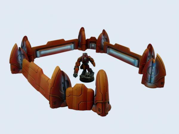 28mm Sci-Fi Terrain: TauCeti Defence Line