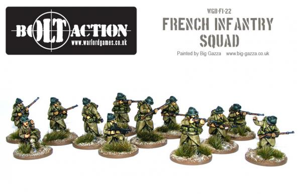 28mm Bolt Action WWII - French: Early War French Squad (12)