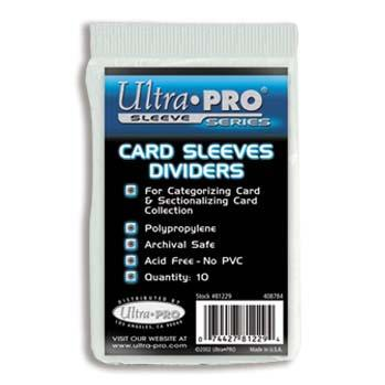 Ultra-Pro:  Card Sleeves Dividers (10)