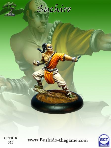 Bushido Miniatures: (Temple Of Ro-Kan) Suchiro (Monk Metal)