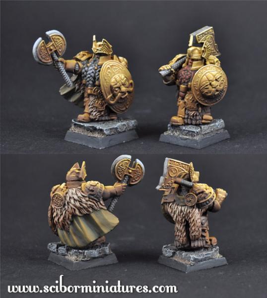 28mm Fantasy Miniatures: 28mm/30mm Golden Guard Set 2 (2)