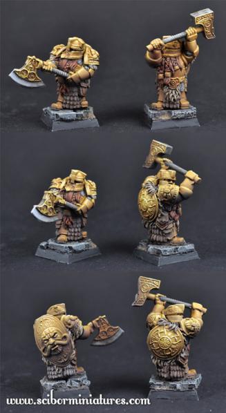 28mm Fantasy Miniatures: 28mm/30mm Golden Guard Set 4 (2)