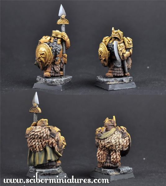 28mm Fantasy Miniatures: 28mm/30mm Golden Guard Set 6 (2)