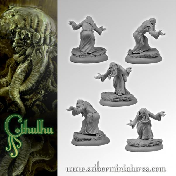28mm Cthulhu Miniatures: Cthulhu Cultist #2