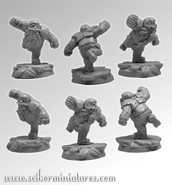 28mm Fantasy Football: 28mm/30mm Dwarf Player #4