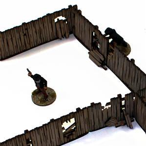 28mm Dead Mans Hand: Add-on Yard Panel Fencing