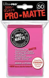 Ultra-Pro: Pro-Matte Standard Bright Pink Deck Protector  (50)