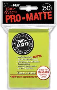 Ultra-Pro: Pro-Matte Standard Bright Yellow  Deck Protector  (50)