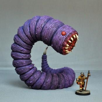 Otherworld Miniatures (Dungeon Monsters): Purple Worm v.2