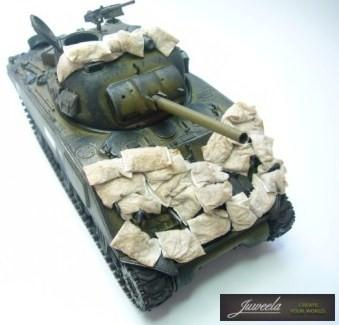1/35 Terrain Accessories: 15 x 10mm Flexible Sandbags (100)