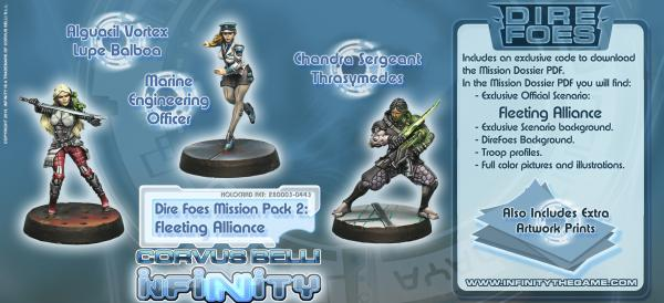 Infinity (#443) Dire Foes Mission Pack 2: Fleeting Alliance
